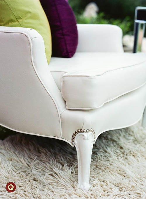 Qweddings Townsley Designs chair and Shag Rug