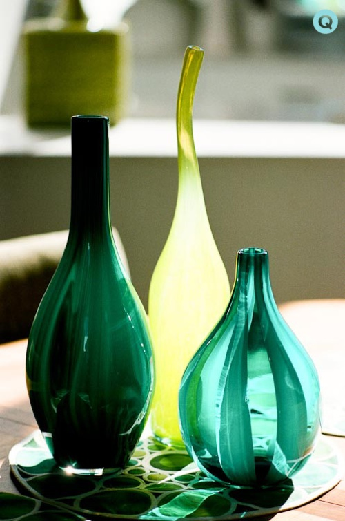 Blue-Green-Glass-Vases