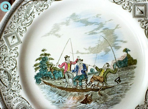 Antique-Fishing-Plate