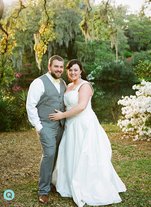 charleston wedding bride groom1 Southern Weddings is featuring a Charleston wedding