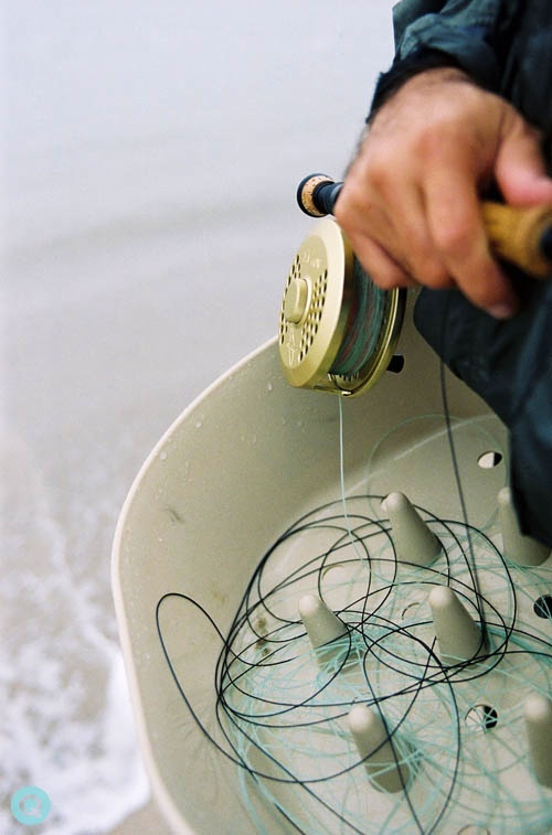 fly fishing basket reel tm saltwater fly fishing in the Pacific Ocean