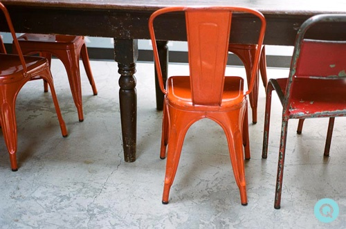 Genial Orange Metal Chair