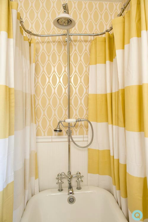 yellow bathroom 6 tm West Elm features a yellow bathroom