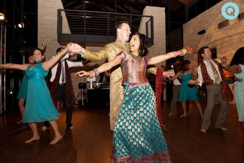 Bollywood dancing tm Indian Fusion wedding in Austin