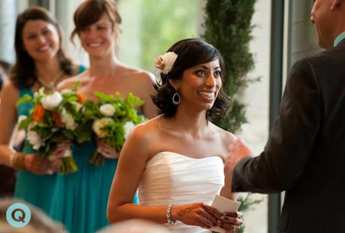 Ladybird Johnson Wildflower vows tm Indian Fusion wedding in Austin