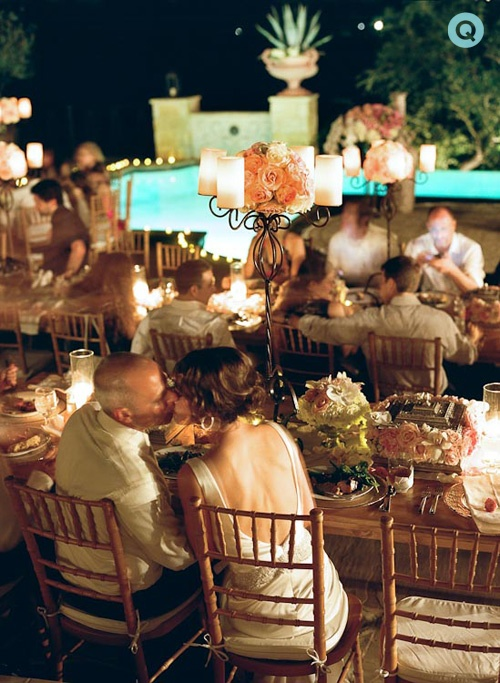 Texas wedding reception tm Elegant back yard wedding in Austin