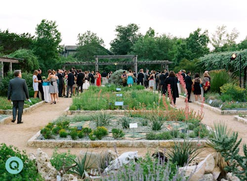 Wildflower cocktail hour tm Indian Fusion wedding in Austin