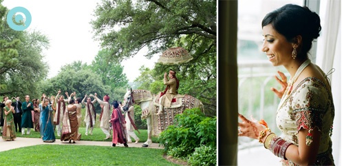 baraat processional tm Indian Fusion wedding in Austin