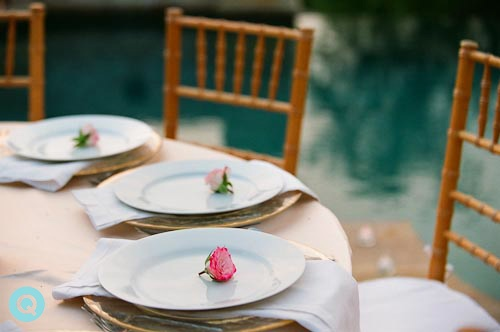 chivari chairs tm Elegant back yard wedding in Austin