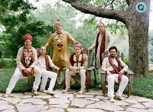 hindu groomsmen tm Indian Fusion wedding in Austin
