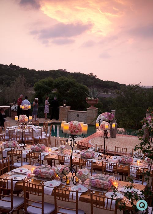 tuscany in texas tm Elegant back yard wedding in Austin