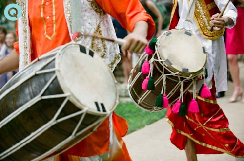 wedding dhol drummers tm Indian Fusion wedding in Austin