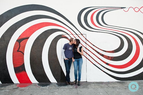 elliott smith mural tm Los Angeles engagement photographer