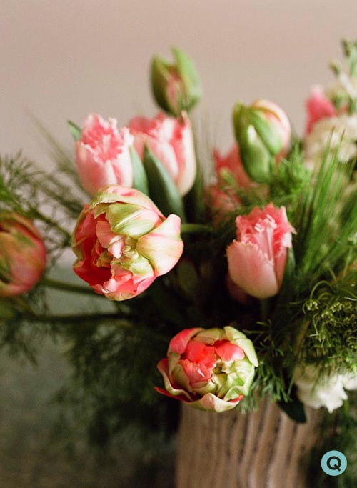 pink tulip floral arrangement tm pink honeymoon tulips