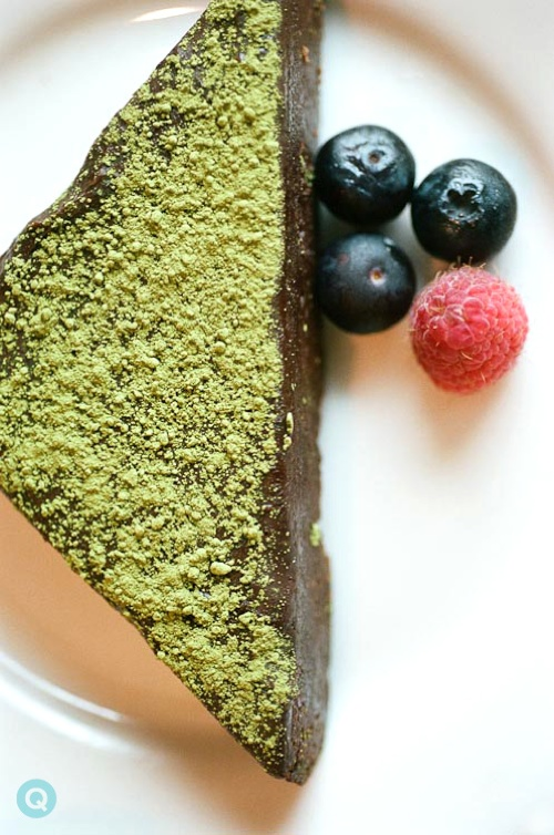 chocolate cake matcha dust tm chocolate cake with matcha