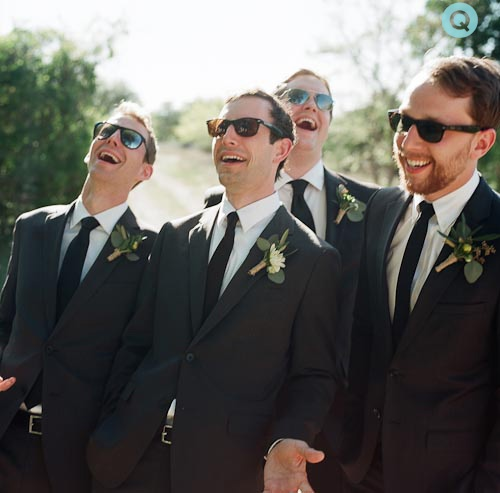 Laughing-Groomsmen