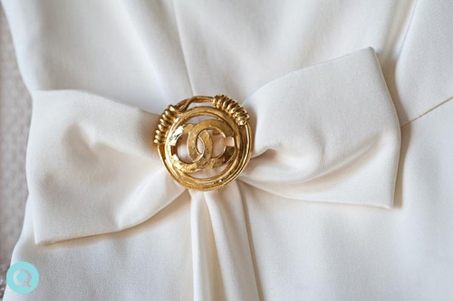 Coco Chanel gold tm white and gold wedding on Offbeat Bride
