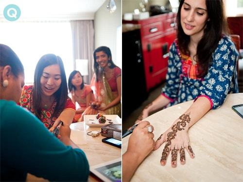 Hina Kahn henna Houston tm white and gold wedding on Offbeat Bride