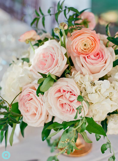 QWeddings Stems Floral Design Laguna Gloria wedding on Style Me Pretty