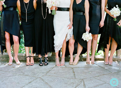 QWeddings bridesmaids Laguna Gloria Laguna Gloria wedding on Style Me Pretty