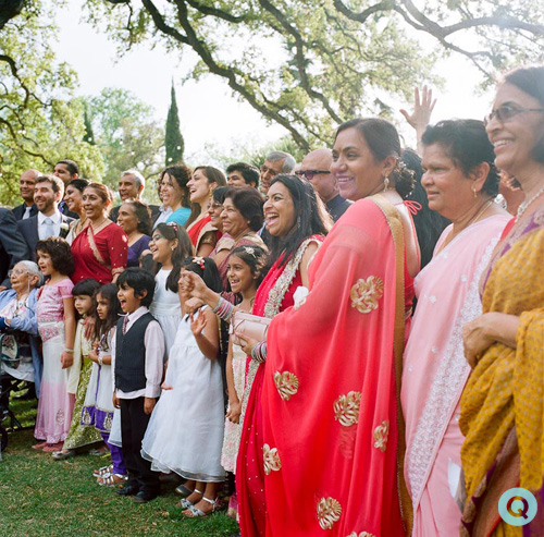 QWeddings Indian fusion wedding 17 Modern Indian wedding and Easter Egg hunt