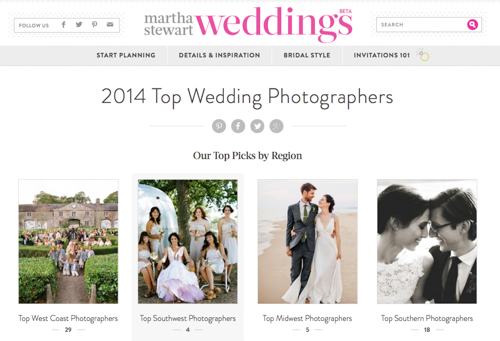 Screen Shot 2014 07 09 at 10.51.30 AM 2 Q Weddings is one of Martha Stewart Weddings 2014 Top Wedding Photographers!