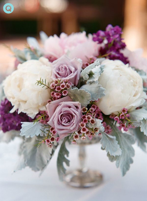 Lavender Flowers Wedding Centerpiece