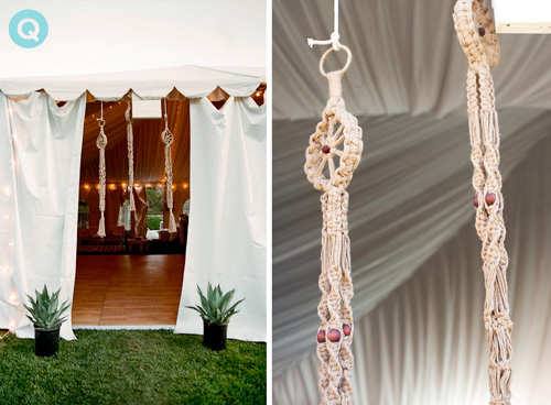 wedding tent macrame succulents decorating ideas for a black tie bohemian wedding