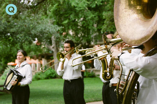 Austin's Minor Mishap Marching Band at Indian wedding