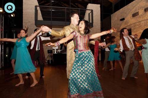 Bollywood dance at Austin wedding