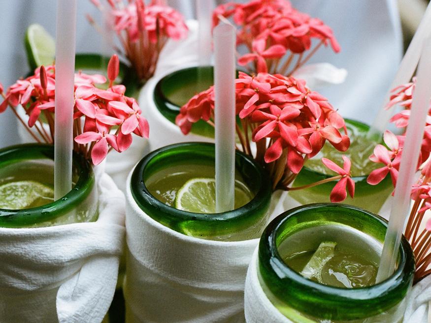 Toasting margaritas at a wedding reception. Photo by Suzi Q. Varin / Q Weddings.